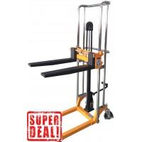 Handbediende stapelaar 400 kg, hefhoogte 1500 mm