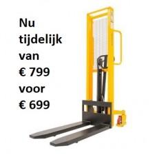 Handbediende stapelaar 500 kg, hefhoogte 1600 mm