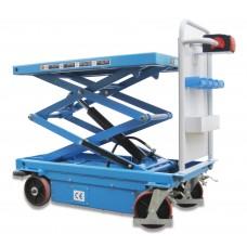 Elektrisch heffend en rijdende heftafel 1075 mm hefhoogte