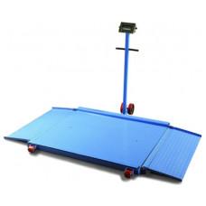 Mobiele vloer weegschaal 1500 kg